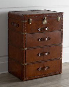 British Colonial Style Leather Trunk with Drawers West Indies Decor, West Indies Style, British West Indies, British Colonial Decor, French Colonial, Tropical Style, Tropical Decor, Colonial Furniture, Colonial Bedroom