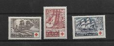 Finland Red Cross set 1937 MNH** SC B24-6 Mi 199-201 First Day Covers, Red Cross, Finland, Mint, Peppermint