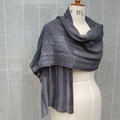 Ravelry: Winter Shadows wrap pattern by Louise Zass-Bangham