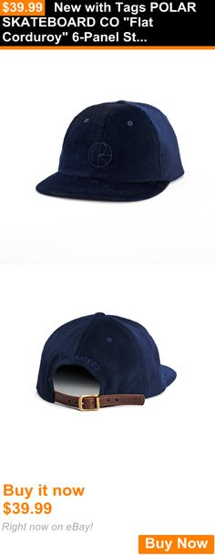 Hats and Headwear 159078: New With Tags Polar Skateboard Co Flat Corduroy 6-Panel Strapback Hat (Navy) BUY IT NOW ONLY: $39.99