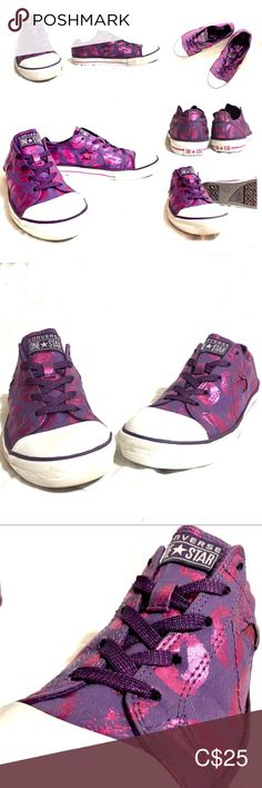 Shop Women's Converse Purple Pink size 5 Sneakers at a discounted price at Poshmark. Purple pink size Sold by eastcoastposher. Converse, Purple Lipstick, Plus Fashion, Fashion Tips, Fashion Trends, Shoes Sneakers, Pink, Closet, Things To Sell