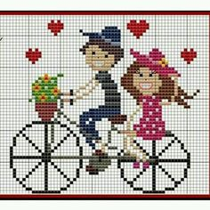 Cross Stitch Letters, Cross Stitch Heart, Cross Stitch Cards, Simple Cross Stitch, Cross Stitch Borders, Cross Stitch Flowers, Cross Stitch Designs, Cross Stitching, Cross Stitch Embroidery