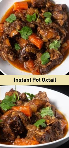 Simple and delicious braised oxtail in a little over an hour thanks to pressure cooking. Oxtail Recipes Easy, Beef Recipes, Chicken Recipes, Cooking Recipes, Healthy Recipes, Instant Pot Oxtail Recipe, Best Instant Pot Recipe, Instant Pot Dinner Recipes, Pressure Cooker Oxtail