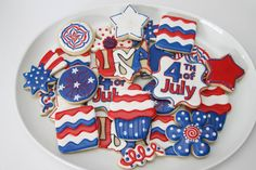 4th of July cookies by The Pink Mixing Bowl!