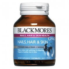 Blackmores Nails, Hair & Skin is a comprehensive formula that provides essential nutrients for strong nails, healthy hair and skin. Hair Loss Cure, Brittle Nails, Strong Nails, Hair Skin Nails, Healthy Nails, Hair A, Collagen, The Cure, Health Fitness