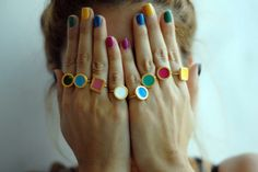 Awesome nails + rings by prigkipo