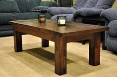 coffee table diy - Google Search - this is not the coffee table I am making but it is the site. the one I am making has the elegant legs. :-)
