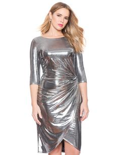 Metallic Side Knot Dress