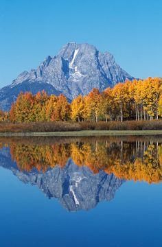 Mt Moran Reflection  Grand Teton National Park, Wyoming