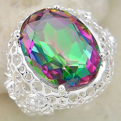 Colorful Crystal Ring – USD $ 18.99