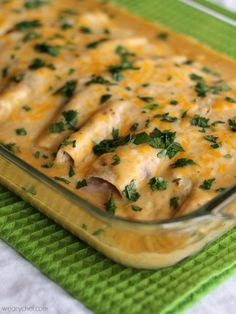 Creamy Crab and Shrimp Enchiladas From Scratch - You'll think you're eating at a Mexican restaurant at your own dinner table!