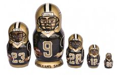 New Orleans Saints nesting doll matryoshka 5 pc  by artmatryoshka, $59.90