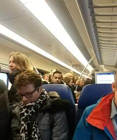 Packed trains because of rush hours. Feeling: claustrophobic, like stock on a farm pushed together for the slaughter house