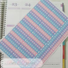 Hearts Checklist Flags-Teal-Purple-Pink Set by PrettylilPlanners
