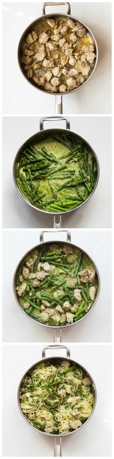 Lemon Basil Angel Hair Pasta with Chicken and Asparagus - only 6 ingredients and 30 minutes to make this homemade chicken dinner! | littlebroken.com @littlebroken