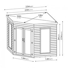 Buy the Premier Corner Garden Summer House by Mercia today! FREE Delivery and a Price Match Guarantee. Corner Summer House, Summer House Garden, Summer Houses, Shed Landscaping, Backyard Sheds, Backyard Studio, Landscaping Design, Corner Log Cabins, Shiplap Cladding