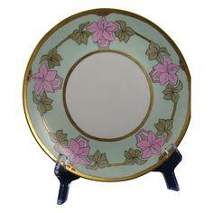 "Hutschenreuther Selb Bavaria Arts & Crafts Floral Design Plate (Signed ""Anna""/c.1920-1940)"