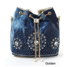 3dfa908de08f the best European Style bags women handbags famous brands fashion denim  design rhinestones and rivets woman messenger bags