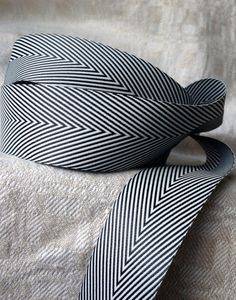 black and white chevron ribbon by ShyMyrtle on Etsy