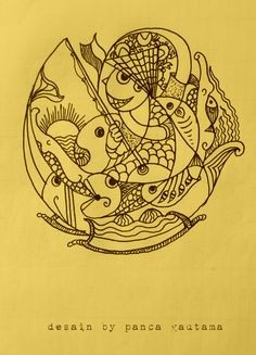 made with ink pen on paper litle : fisherman