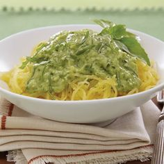 Spaghetti Squash with Avocado Pesto