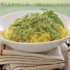Spaghetti Squash with Avocado Pesto