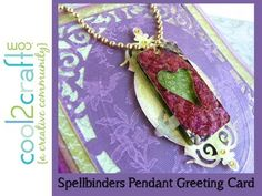 Lisa Fulmer shows how to create a beautiful layered Pendant Greeting Card using the Spellbinders Grand Calibur Die Cutting and Embossing System with the Filigree Delight Spellbinders Nestabilities. The dog-tag style pendant is created with the Media Mixage pre-cut metal shapes which have been embossed with the Spellbinders Artisan Express.This v...