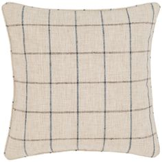 """Classic pattern and subtle color make this rustic-look indoor/outdoor decorative pillow an easy choice for any cozy space. A tight weave of durable polyester that looks and feels like linen makes this versatile throw pillow a timeless favorite.   • 100% polyester shell; Poly-Fil insert included.  • 22"""" x 22""""  • Self piping.  • Zipper closure."""