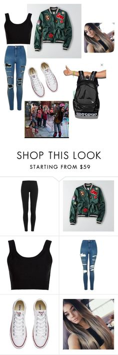 """Back To School Outfit #2 (College or High School) Inspired by Best Friends Whenever"" by jewls20 ❤ liked on Polyvore featuring Polo Ralph Lauren, American Eagle Outfitters, Calvin Klein Collection, Topshop and Converse"
