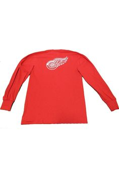 7af0d426cea Majestic Detroit Red Wings Red Rally Loud Long Sleeve T Shirt, Red, 100%  COTTON, Size XL
