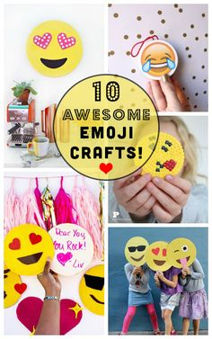 10 DIY Emoji Crafts, Because Why Should Your Phone Have all the Fun? emoji art for your life! Need fantastic ideas about arts and crafts? Head out to this fantastic website! Party Emoji, Crafts To Do, Crafts For Kids, Decor Crafts, Emoji Craft, Emoji Love, Emoticons, Cute Keychain, Idee Diy