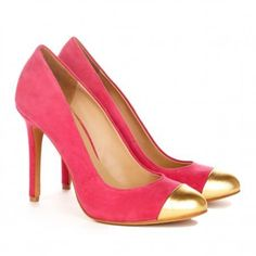 pink and gold shoes
