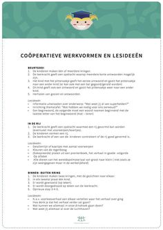 Coöperatieve werkvormen en lesideeën Educational Leadership, Educational Technology, Primary Education, Kids Education, Co Teaching, 21st Century Skills, Cooperative Learning, Learning Quotes, Mobile Learning