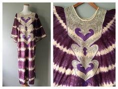 A personal favorite from my Etsy shop https://www.etsy.com/listing/293360765/vintage-kaftan-tie-dye-dress-purple