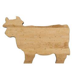 Tabla de madera de maple Cow de Fishs Eddy $20000 (US$39.95)