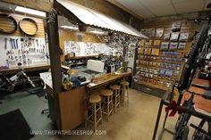 Bikerepair service counter at The Path Bike Shop Live Oak location in Trabuco…