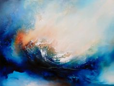 "Large Canvas Abstract Oil Painting by Simon Kenny "" Resurgence"""