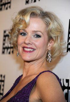 Penelope Ann Miller Medium Curls with Bangs