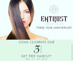 Entrust Unisex Salon...3 Years & Counting!!! We are ever so grateful for the clients who trust in us day in and day out. Thank you for your continued support and for the confidence that you have placed in us. Book your appointment now at 91-9718270230. #style #fashion #beauty #celebstyle #bollywoodstyle #mua #bollywood #indianfashion #mua #delhi #delhigram #bbloggers #l4l #wedinspirationvogue #indianbrides #indianweddings #likes4likes #glamour #designer #followme #vogueindia #magazine…