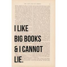 I Like BIG BOOKS and I Cannot LIE print