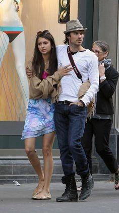 Ian somerhalder and Nina Dobrev went to Saint Germain des Pres