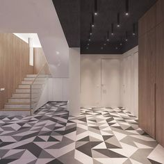 La scala a chiocciola porta all'ufficio e alle camere da letto. Eccelente continuità gradino scala - rivestimento parete in legno