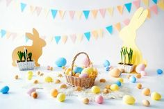 Easter Many Colorful Eggs Bunnies Backdrop for Photography SH602 – Dbackdrop Easter Backdrops, Muslin Backdrops, Backdrops For Parties, Custom Backdrops, Easter Egg Basket, Easter Bunny, Happy Easter, Background For Photography, Photography Backdrops