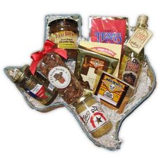 Taste of Texas Ranch Hand Gift Basket is filled with great tasting Texas foods that makes this a great thank you gift, birthday gift, or welcome gift.  Free Shipping  #Gift