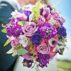 Summer bouquets in purple