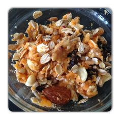 Quick & Easy Brain & Energy Food  Mash a sweet potato, dry oats, nuts, raisins    together and sprinkle cinnamon on top for extra flavor.   Great for a quick on the go snack. Filled with fiber, complex carbs to help fuel the brain and body as well as antioxidants, good fats, B6, C, Potassium and natural sugars to help the body release slowly into the bloodstream so you don't get the sugar spike.  https://www.facebook.com/pages/Kimberly-Zachry-Figure-Competitor/353442528062655