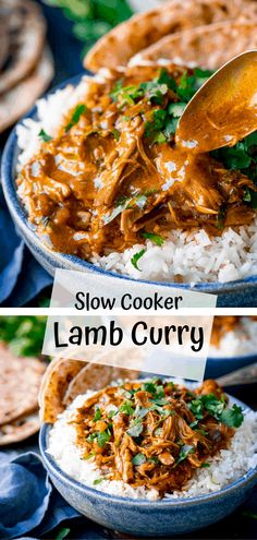 Slow cooked lamb curry with a rich and delicately spiced coconut curry sauce. Minimal effort with loads of flavour. Slow cooked lamb curry with a rich and delicately spiced coconut curry sauce. Minimal effort with loads of flavour. Sauce Au Curry, Coconut Curry Sauce, Lamb Dishes, Curry Dishes, Slow Cooker Recipes, Cooking Recipes, Healthy Recipes, Easy Cooking, Easy Recipes