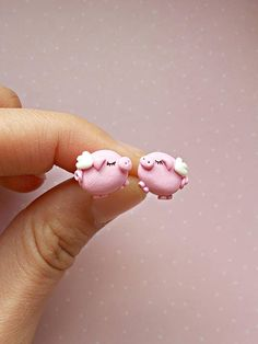 Pig Earrings Flying Pig Earrings When Pigs Fly Earrings Cute Polymer Clay, Cute Clay, Polymer Clay Miniatures, Fimo Clay, Polymer Clay Projects, Polymer Clay Charms, Polymer Clay Creations, Polymer Clay Earrings, Clay Crafts