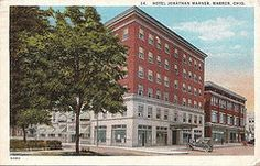 Hotel Jonathan Warner with Hippodrome Theater, Warren, Ohio, circa 1926 by Downtown Warren History
