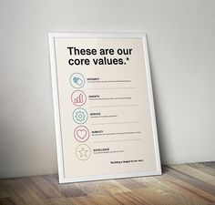 Core Values Poster Series on Behance